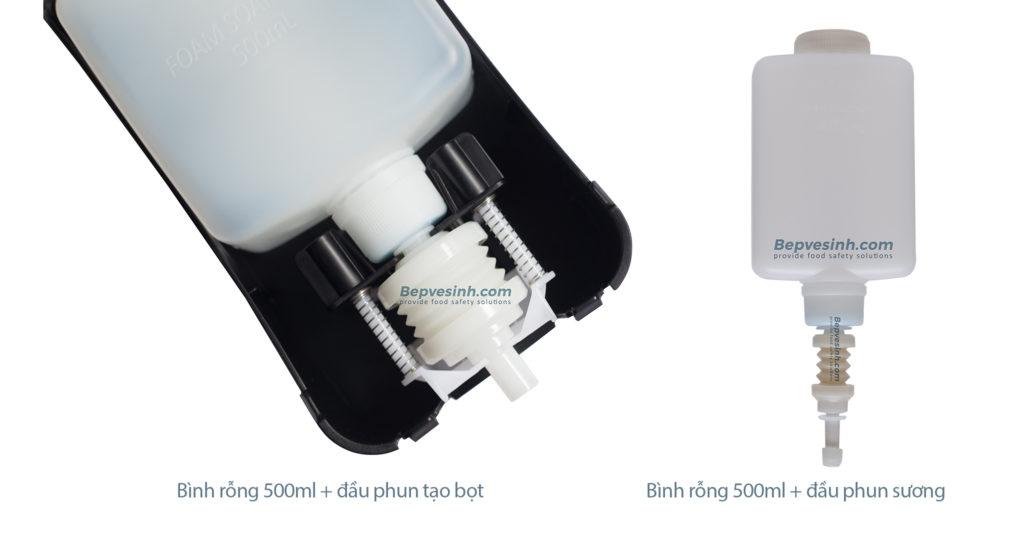 Hộp đựng xà phòng nhấn tay tạo bọt GMD-500F