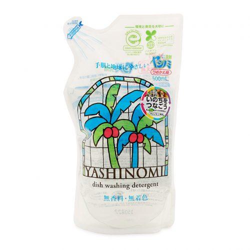 Túi nước rửa đồ dùng ăn uống, rửa rau từ dầu cọ Yashinomi 500ml