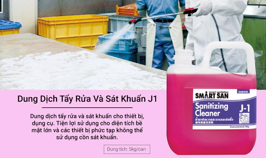 Dung dịch tẩy rửa và sát khuẩn J1