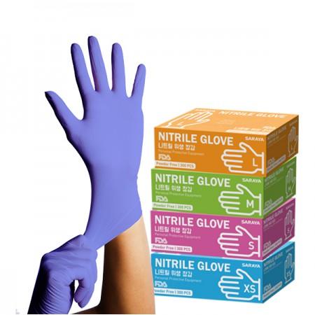 Găng tay cao su thực phẩm Nitrile