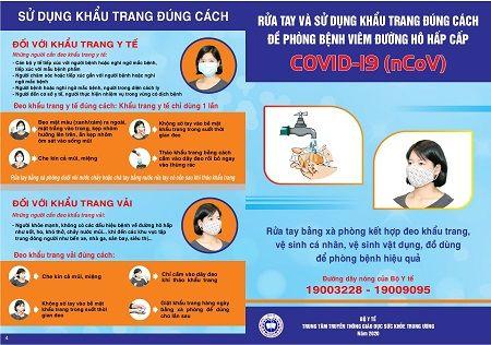Bộ Y tế ra áp phích, tờ rơi trực quan mới về phòng chống dịch bệnh COVID-19